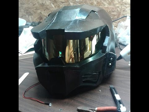 How to add LED lights to your EVA foam Halo Spartan helmet