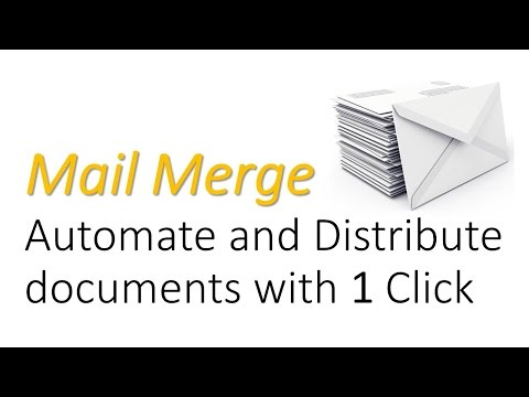Mail merge excel to outlook automatic emails