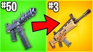 RANKING EVERY GUN EVER IN FORTNITE! (Feat. LukeTheNotable)