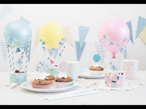 DIY : Hot-air balloons for the party table by Søstrene Grene