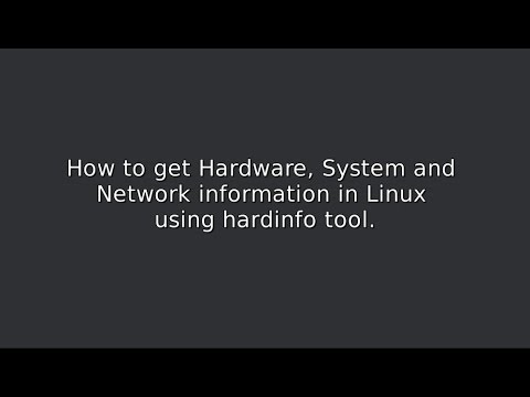 How to get Hardware and System info in Linux using hardinfo tool
