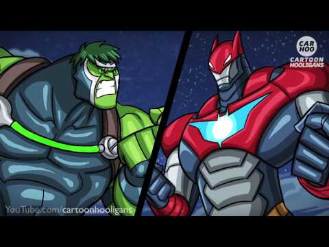 BANE x HULK vs IRONMAN x BATMAN [ Marvel & DC Superheroes Parody ]