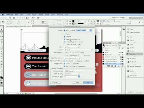 Adobe Indesign CS6 Tutorial - 67  Creating Hyperlinks and Building Buttons