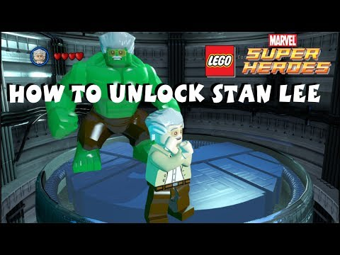 Lego Marvel Super Heroes - How to Unlock Stan Lee - All 50 Stan Lee in Peril Locations -  720P HD