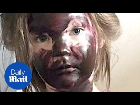 A 4 year old toddler covered her home with purple paint - Daily Mail