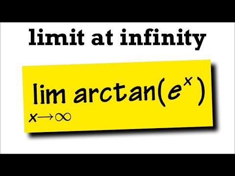 limit at infinity arctan(e^x)