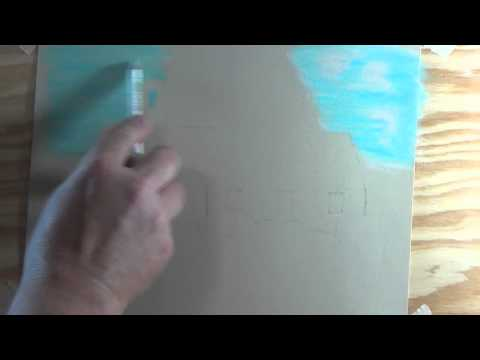 Painting A Church Using Pastel Pencils Part 1