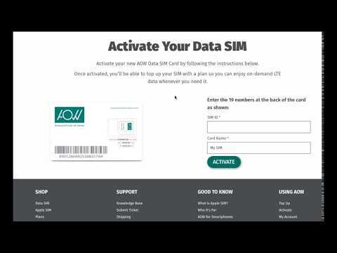 AOW Data SIM Activate