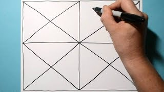 Satisfying Symmetrical Pattern / Relaxing Line Illusion / Daily Art Therapy / Day 043