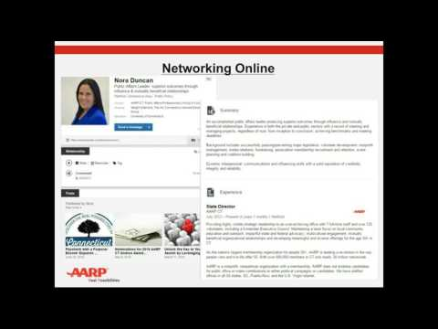 Tips for Networking Online