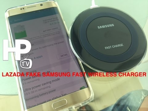 LAZADA Fake Order Samsung Wireless Fast Charger by HourPhilippines.com