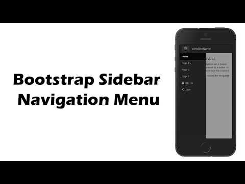 sidebar navigation menu bootstrap | How to Create Bootstrap Sidebar Mobile Menu Navigation bar