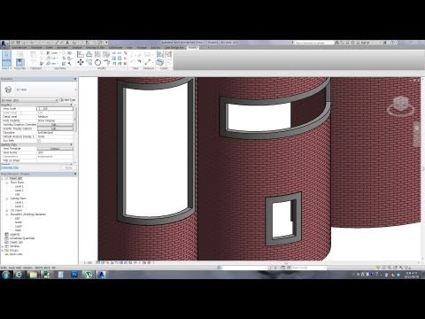 Revit Tips - Adaptive Curved Frame for Curved Walls