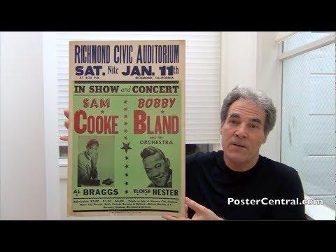 Sam Cooke & Bobby Bland Concert Window Card 1964 S.F. Bay Area