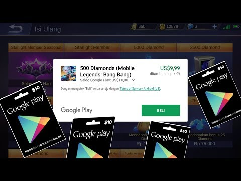 Cara Redeem Code Googleplay Gift Card $10 Bisa Buat Beli Diamonds Mobile Legends