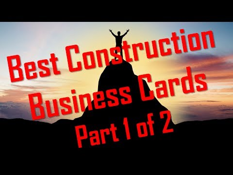 Best Construction Business Cards PART 1 of 2 Contractor Business Cards