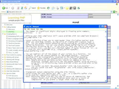 PHP.ini and phpinfo