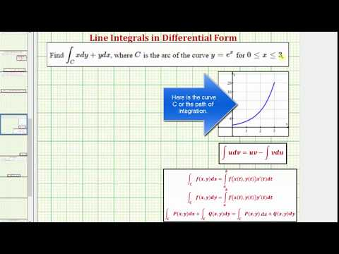 Evaluate a Line Integral of in Differential Form