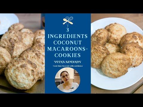 Easy Coconut Macaroons Recipe - Gluten Free, Eggless, Vegetarian - Cookie Recipe