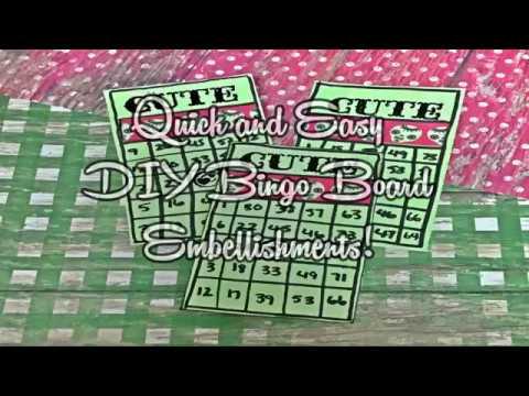 Quick and easy DIY Bingo Board Embellishments