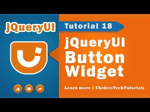 jquery ui video tutorial 18 - Creating Button Widget
