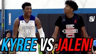 Kyree Walker & Jalen Green TRASH TALK & Go AT Each Other! Top 2020 Players AAU BATTLE