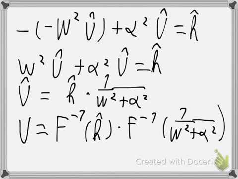 Solve differential equation with Fourier Transform