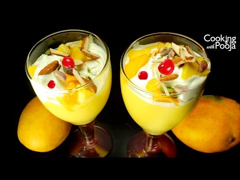 Mango Mastani Summer Desserts Recipe in Hindi - मैंगो मस्तानी - Mango Shake &  Ice Cream Recipe