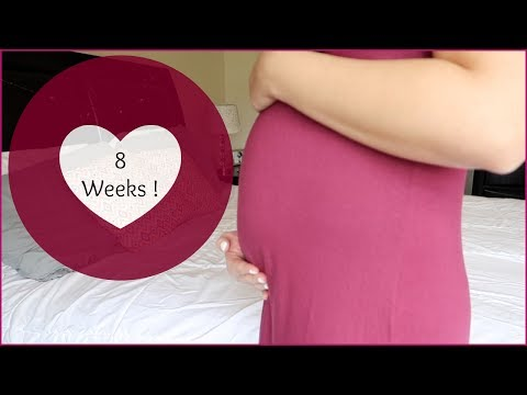 8 WEEKS PREGNANT UPDATE | SYMPTOMS, MORNING SICKNESS, & BELLY SHOT