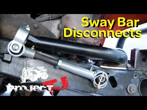 Jeep Wrangler TJ: Sway Bar Disconnects - Huge Gain in Wheel Travel