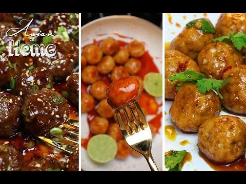 Asian Meatballs 3 Ways!