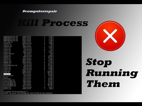 How to kill process in windows 10 by command prompt #computerrepair #computerrepair #techtip