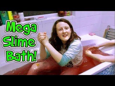 Mega Slime Bath!! Big Gelli Baff Slime!