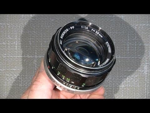 Sticky aperture blades in Minolta MC Rokkor-PF 1:1.4 f=58mm