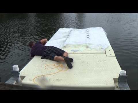 Floating boat lift installation video