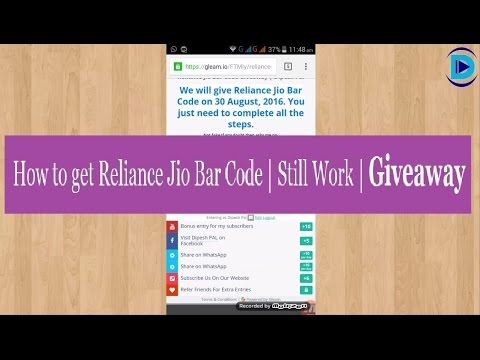 How to get multiple Jio barcode in one Device | Giveaway