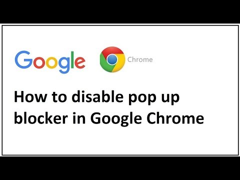how to disable pop up blocker in google chrome