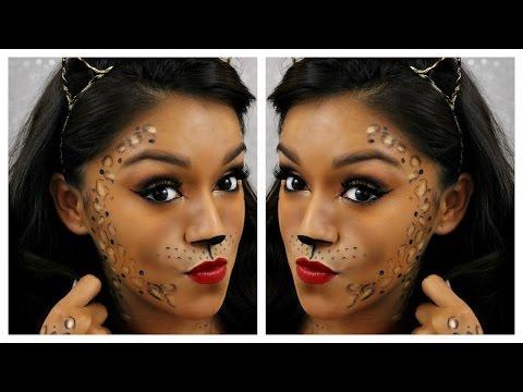 Leopard Halloween Makeup Tutorial