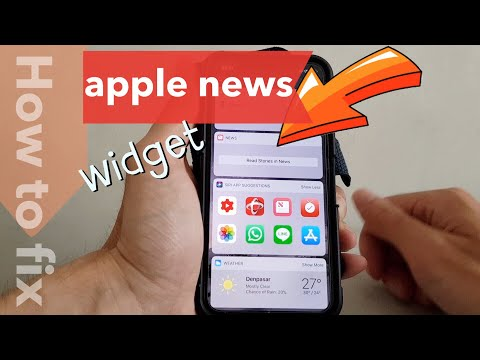 how to fix apple news widget stories not displaying any contents on the iPhone