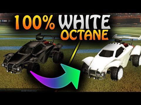 How To Have A 100% White/Black Octane In Rocket League! | How To Choose Black/White Primary Colors