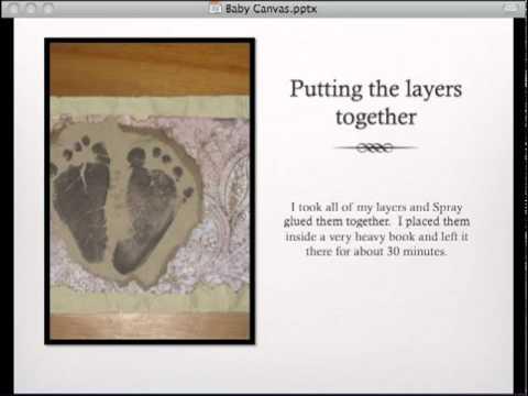Baby Footprint Canvas