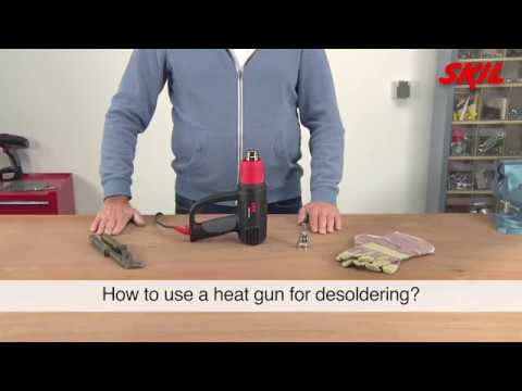 How to use a heat gun for desoldering?