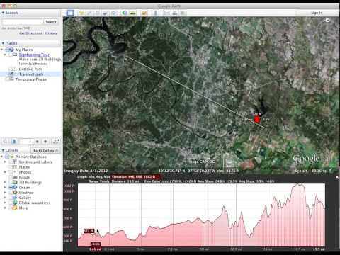 How to create a Elevation Transect in Google Earth