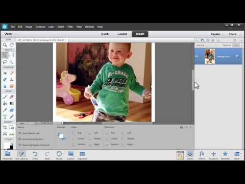 Add a frame and text to a photo in Photoshop Elements