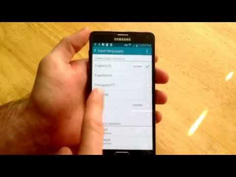 Samsung Galaxy Note 4 - How to add a language keyboard.
