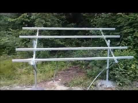 ground mount solar panel diy