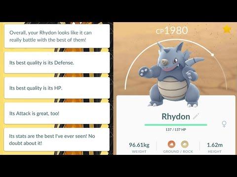 100% IV Rhyhorn Caught! Immediately Evolved Into Perfect Rhydon! Pokemon GO Perfect Specimens Series
