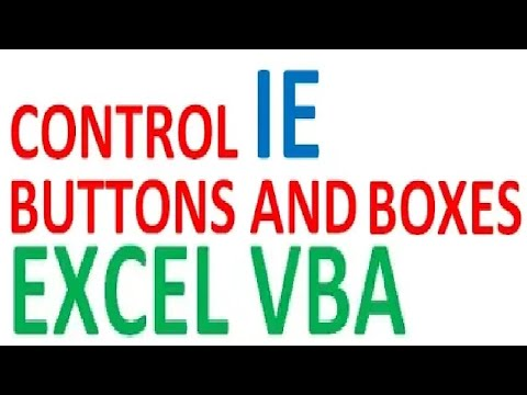 Excel VBA control and interact Internet Explorer text-boxes and buttons