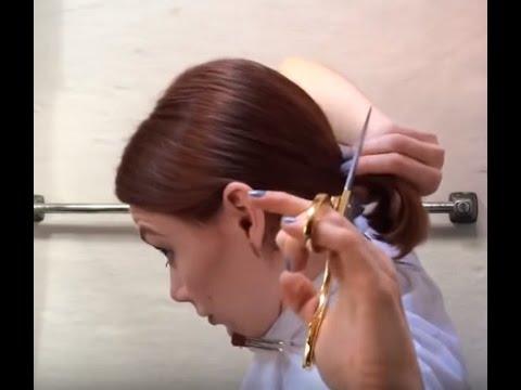 Fearless home haircut: Lara Croft goes very short bob