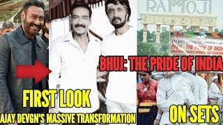 AJAY DEVGN'S LOOK FROM BHUJ: THE PRIDE OF INDIA REVEALED | ON SETS RAMOJI FILMCITY | KICCHA SUDEEP